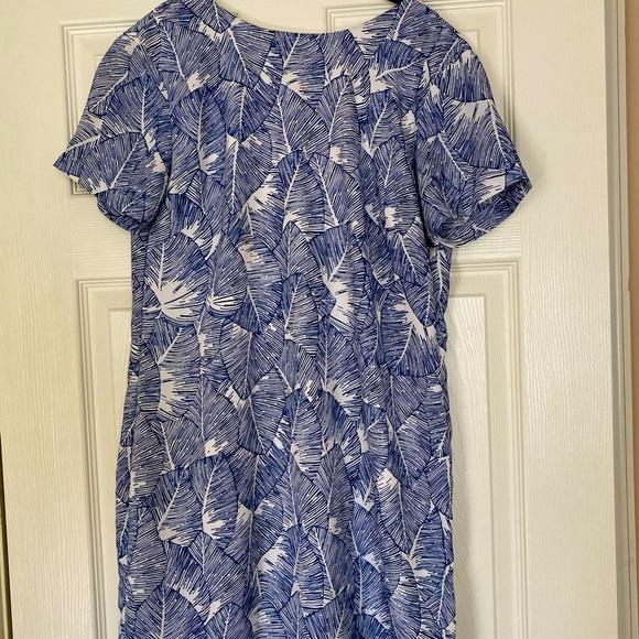 Tropical blue vici dress
